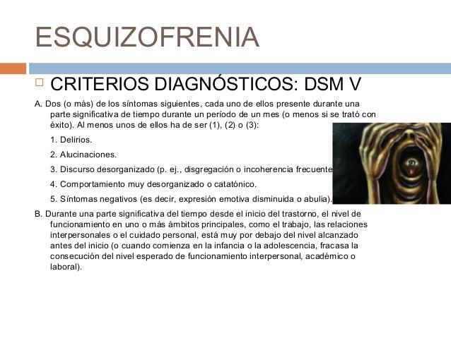 Diferencias entre el dsm iv y v en esquizofrenia y