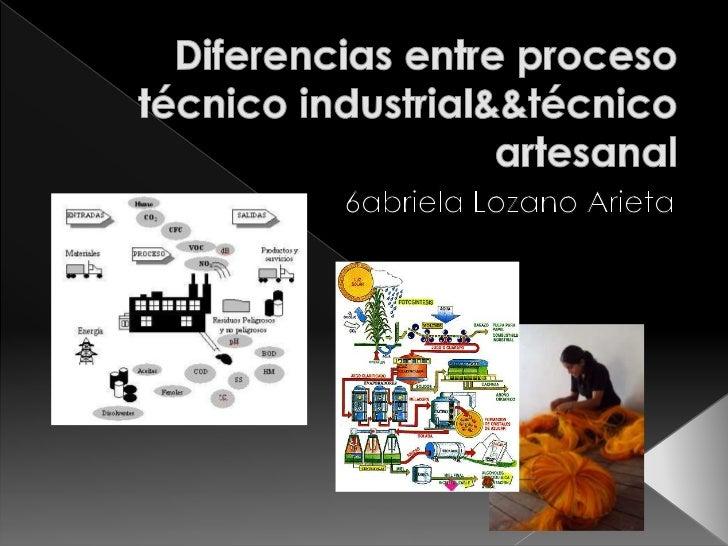    Los procesos técnicos industriales son una Secuencia de    actividades requeridas para elaborar un producto (bienes o ...
