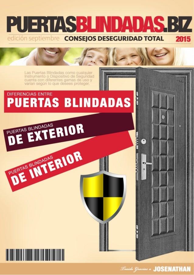 Qu diferencias hay entre puertas blindadas de exterior e - Puertas blindadas exterior ...