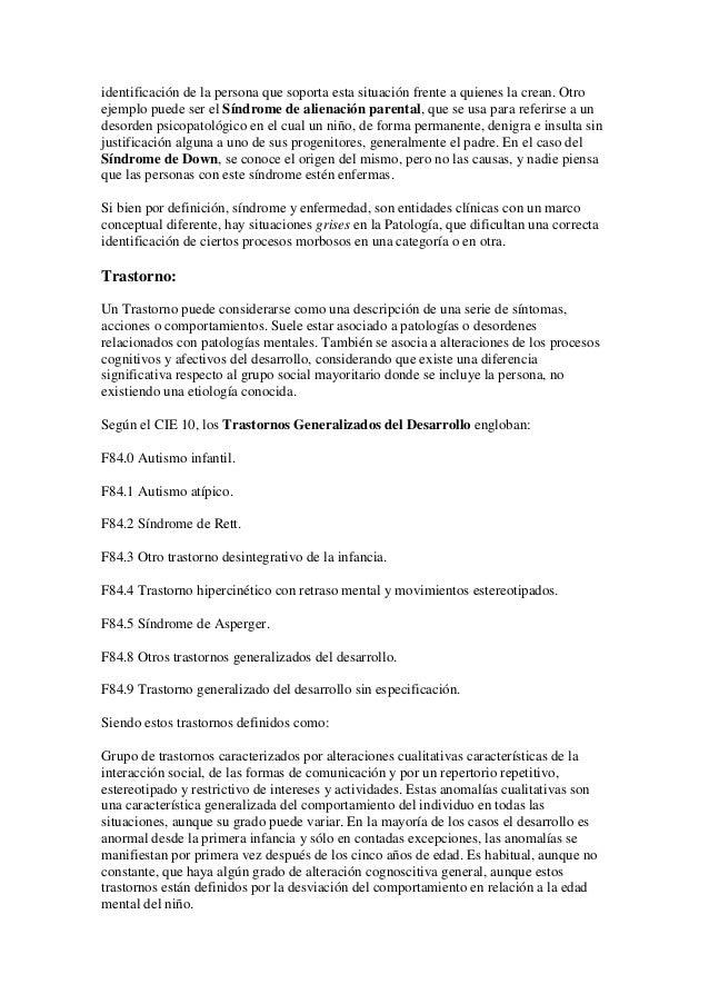 Diferencias entre síndrome, trastorno y enfermedad Slide 2