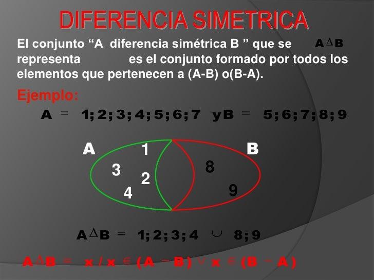 Diferencia Simetrica