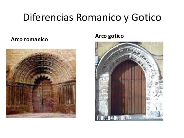 Diferencias Romanico y Gotico                   Arco goticoArco romanico