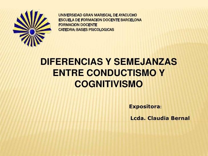UNIVERSIDAD GRAN MARISCAL DE AYACUCHO   ESCUELA DE FORMACION DOCENTE BARCELONA   FORMACION DOCENTE   CATEDRA: BASES PSICOL...