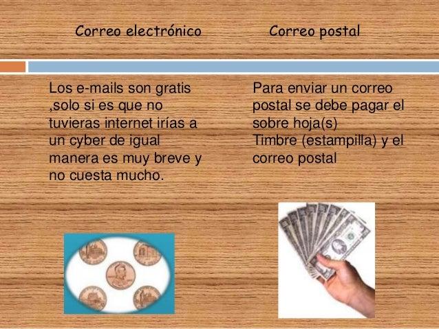 Diferencias y semejanzas entre correo electr nico correo for Oficina de correo postal