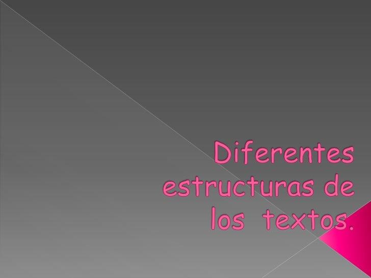 Aunque la organización de un textopuede adoptar múltiples formas,también es verdad que nosencontramos ciertos tiposestruct...