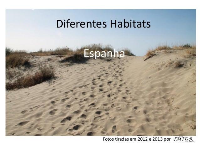 Diferentes Habitats Espanha Fotos tiradas em 2012 e 2013 por IMFGR