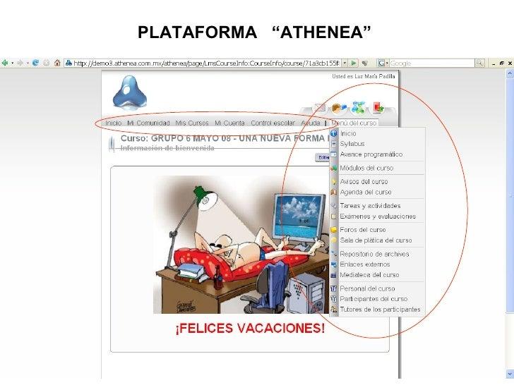 "PLATAFORMA  ""ATHENEA"""