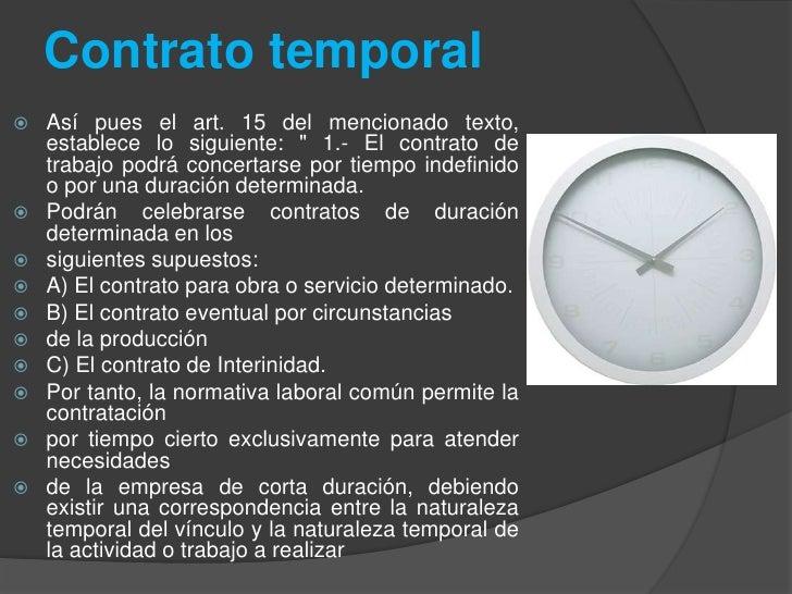 Diferentes tipos de contratos for Formato de contrato de trabajo indefinido