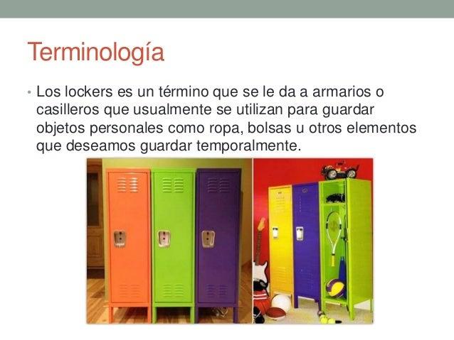 Artesanato Reciclar ~ Diferentes tipos de lockers ppt