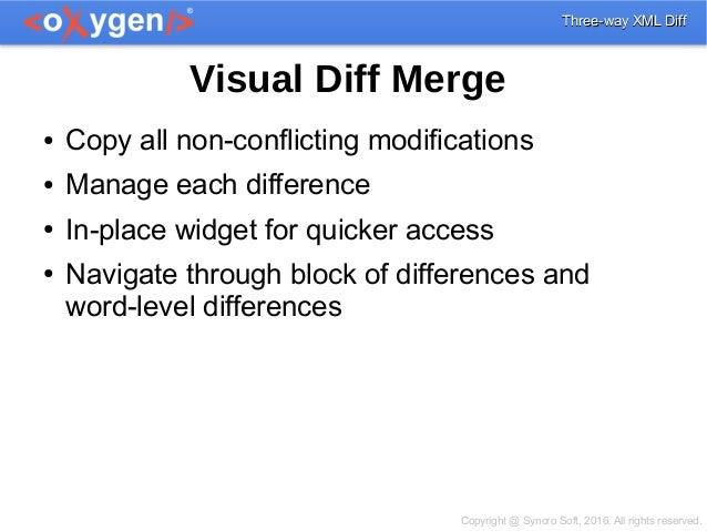 Three-way XML Diff & Visual Diff