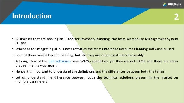 Difference between Warehouse Management System (WMS) and Enterprise R…