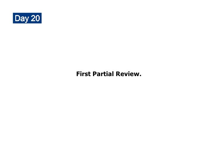 First Partial Review.