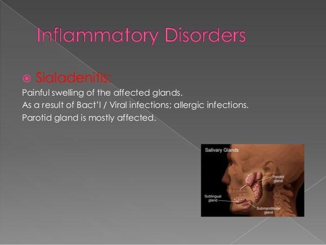 What causes submandibular gland swelling?