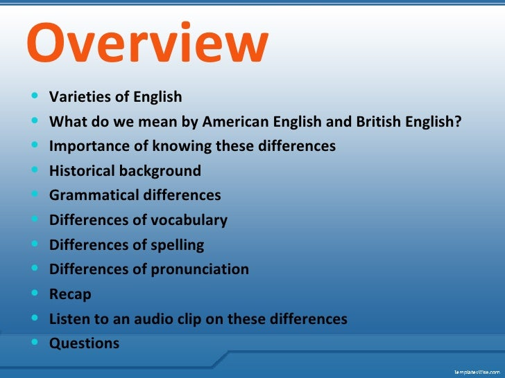 Grammatical difference between british and american