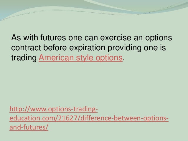 Difference between futures and option trading