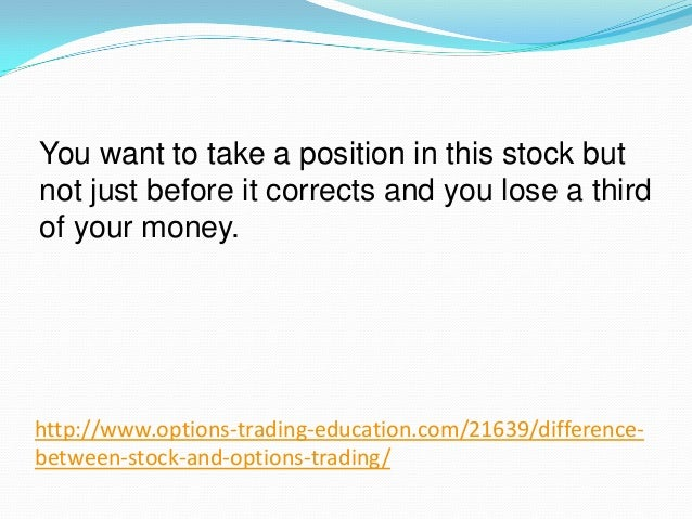 Options stocks difference