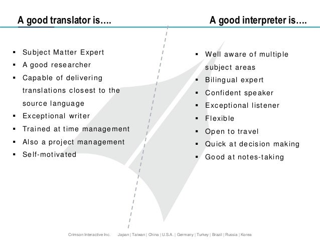 """difference between translation and interpretation Translation and interpreting services faq translation & interpreting  q what is  the difference between """"interpreting"""" and """"translation"""" a translation is written."""