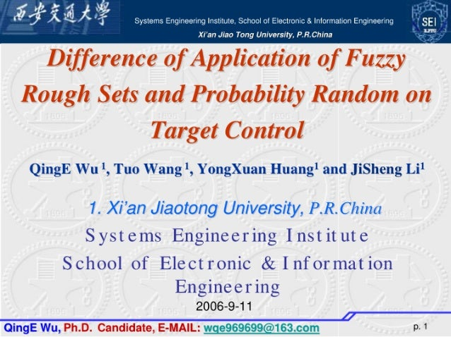 Difference of application of fuzzy rough sets and probability random on target control
