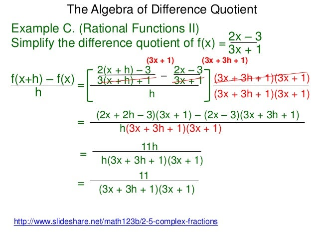The Difference Of A Quotient And Simplify Pictures to Pin on – Difference Quotient Worksheet