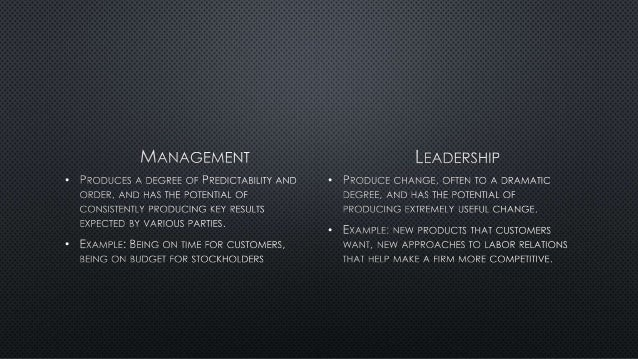 the difference between leadership and management pdf