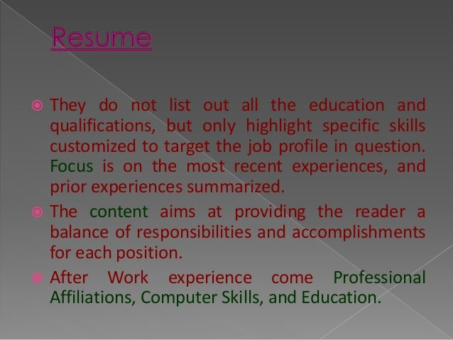 difference between a curriculum vitae  cv