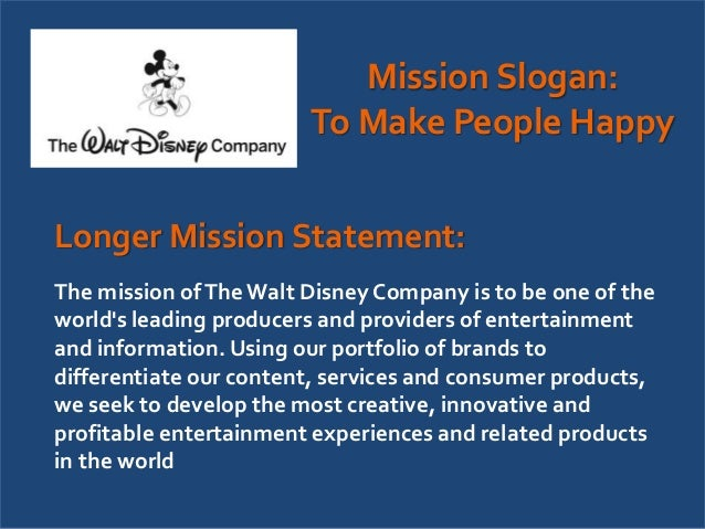 walt disney thesis statement
