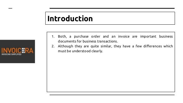 Difference Between A Purchase Order And An Invoice - Order invoice