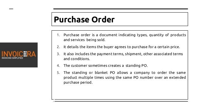 Difference Between A Purchase Order And An Invoice - Invoice terms and conditions for service