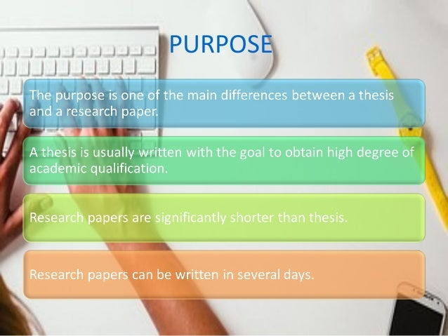 Major Differences Thesis and Research Paper: An Academic Evaluation