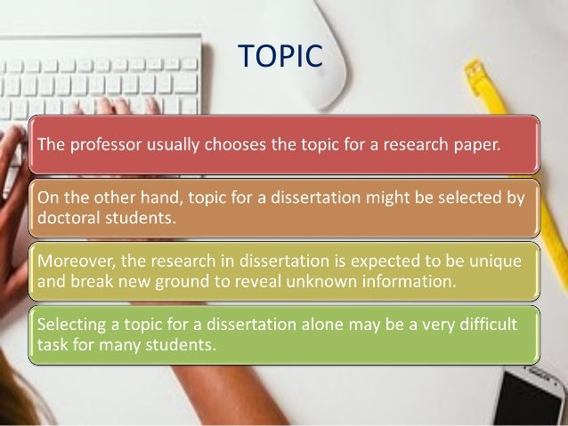 Diff between thesis and dissertation online