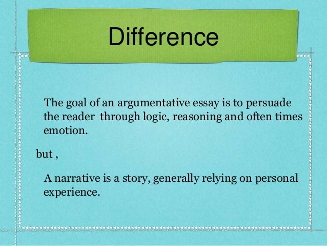 Difference narrative descriptive essays