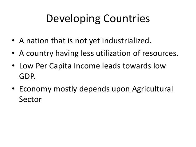 Difference between developed and developing countries