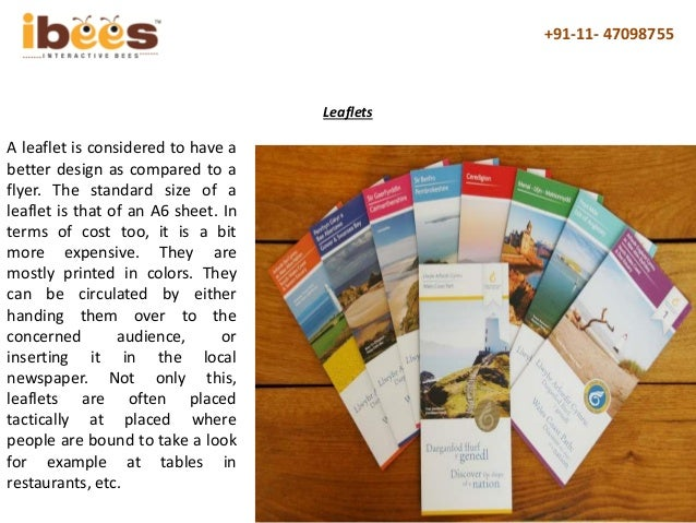 difference between flyers brochures posters leaflets