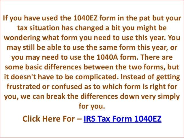 1040a Ez Form Fashionellaconstance