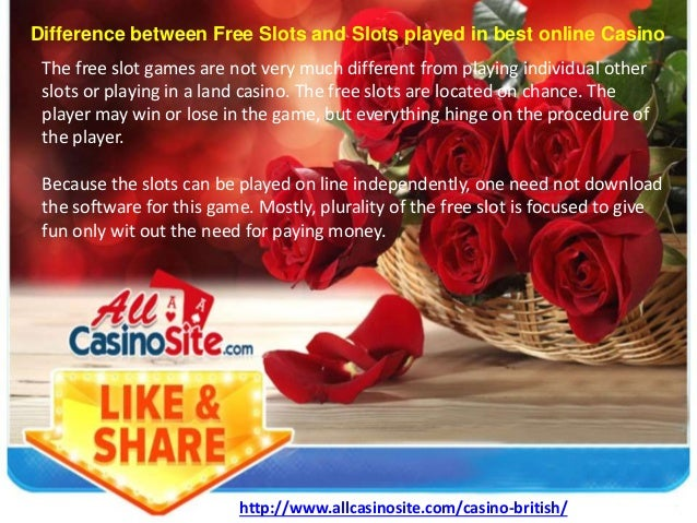 Difference Between Free Slots And Slots Played In Best Online Casino