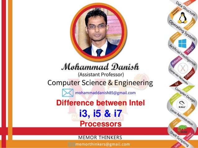 Difference between Intel i3 i5 i7