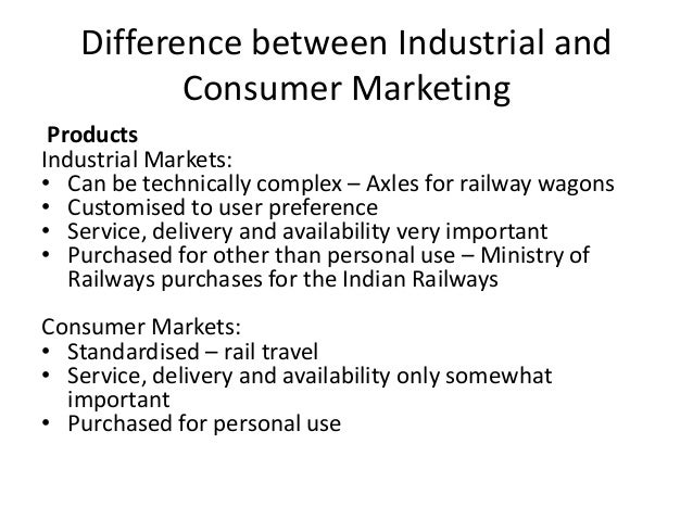 Difference Between Consumer Goods and Industrial Goods ...