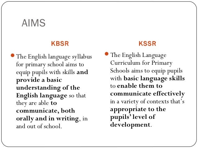kbsr and kssr Similarities and differences • kssr aims to strengthen the command of bahasa malaysia and english among primary school pupils characteristic of kssr • • • • • • • • • • pupil centred fun and interactive less-exam orientation project and activity based creativity and innovation communication ict literacy holistic critical.
