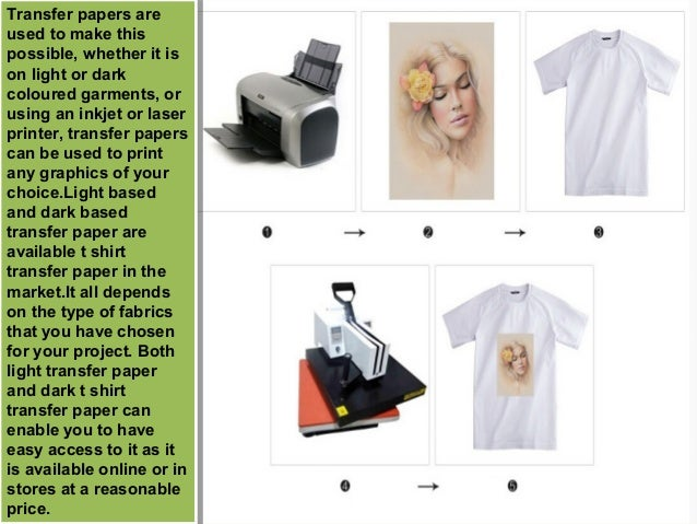 Difference between light and dark based t shirt transfer paper for T shirt transfer paper for dark fabrics