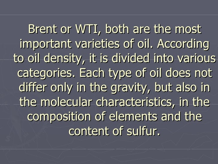 Difference Between Light Sweet Crude and Brent Crude Trading