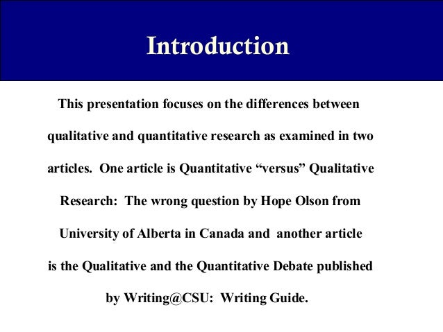 Qualitative Research Journals - SLU