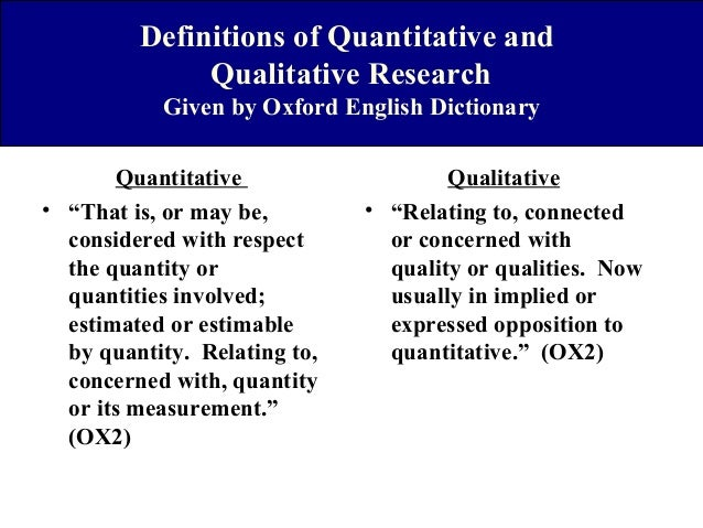 A Contrastive Analysis Of Qualitative And Quantitative Research.