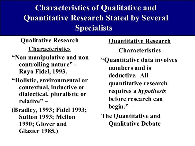 features of quantitative research