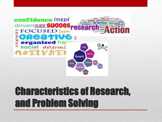 difference between research and problem solving