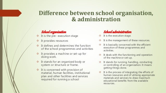 what is the difference between management and administration