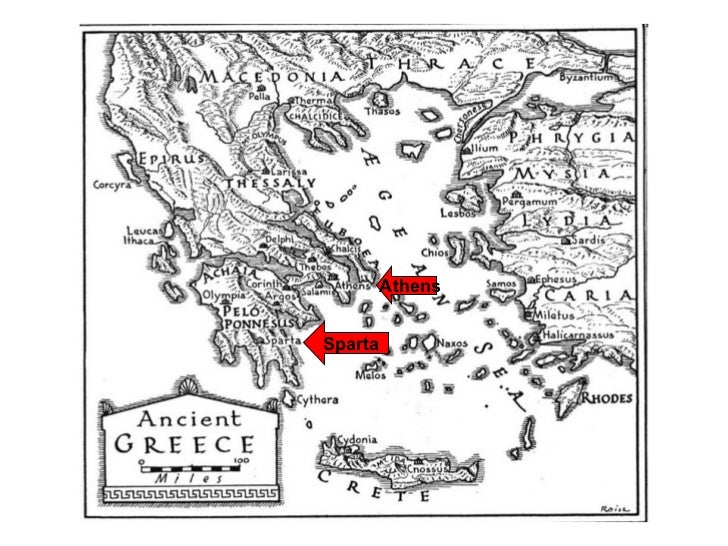 the differences between athens and sparta Athens and sparta were two rival city-states, while the latter had very well trained  military and soldiers, the.