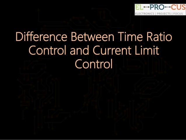 difference between time ratio and current limit