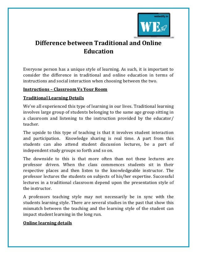 similarities between online and traditional classes