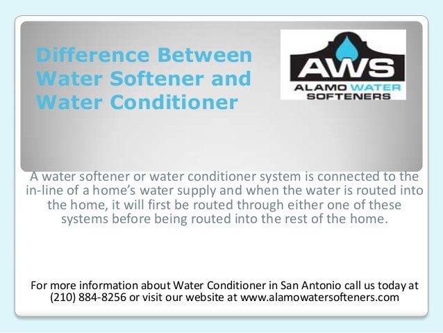 Difference Between Water Softener And Water Conditioner