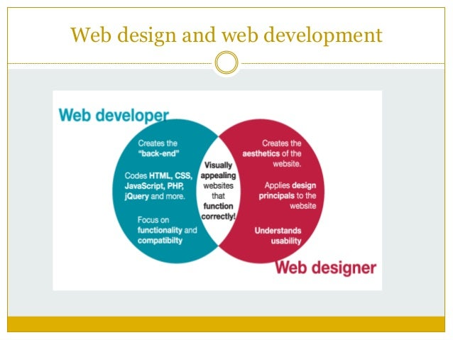 Difference Between Web Design And Web Developement